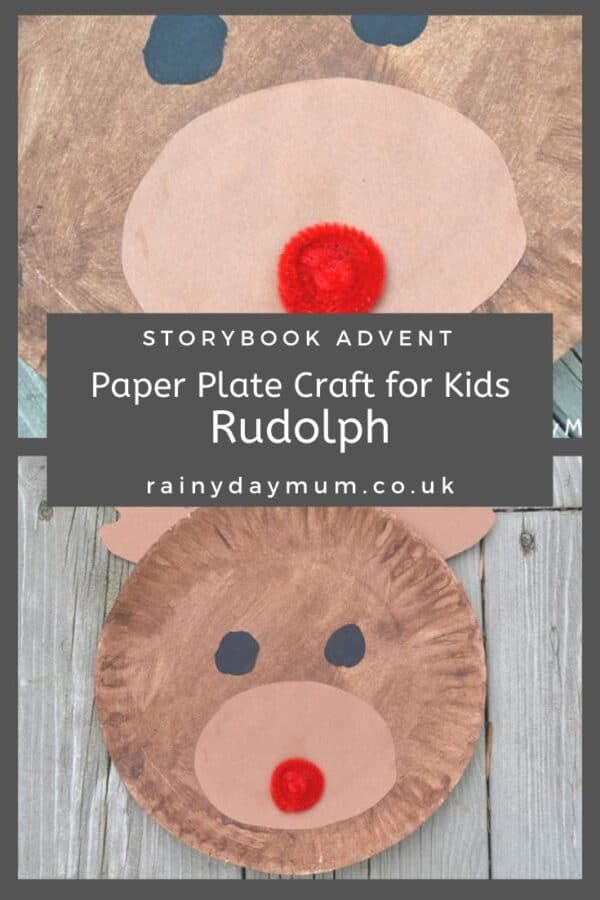 Paper Plate Rudolph the Red-Nosed Reindeer Craft for Kids