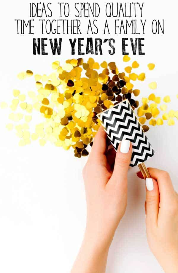 Spend quality family time together on New Year's Eve sending out the old year and seeing in the new without a party in site with these simple ideas of things you can do.