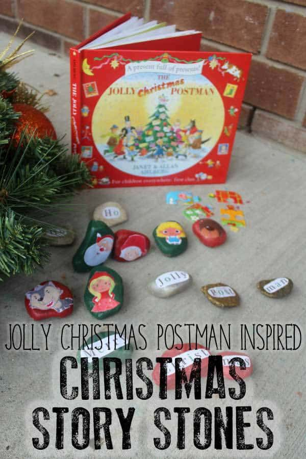 Christmas Story Stones inspired by The Jolly Christmas Postman