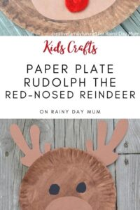 Christmas Paper Plate Craft for Kids to Make a Reindeer