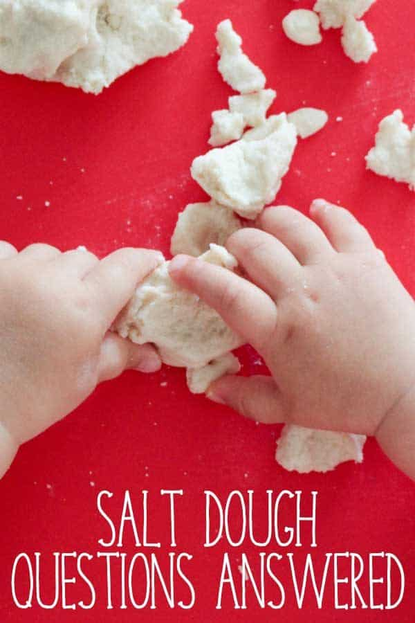 Your Salt Dough questions answered covering why things go wrong, how to store, what to use as an alternative if you don't have salt and many other problems and solutions to them.