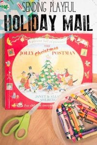 Read and play with this Christmas themed early literacy role-play activity based on the classic British Christmas book The Jolly Christmas Postman.