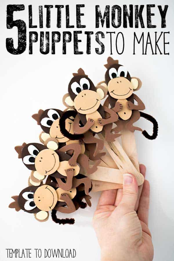 Five Little Monkey Puppets