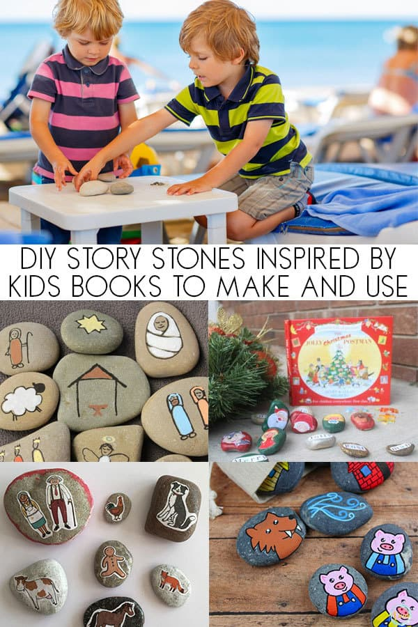 DIY Story Stone Ideas for you to make for and with your toddlers and preschoolers inspired by children's picture books. Ideal for helping your children develop story telling skills.