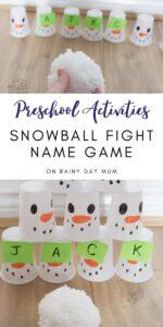 Indoor Preschool Snowball Fight Name Game