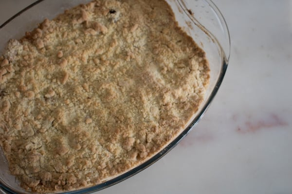 Classic family dessert with a twist this Bramley apple crumble is easy to make and best served with some vanilla ice-cream or to compliment the sweetness of the apples some natural yoghurt.