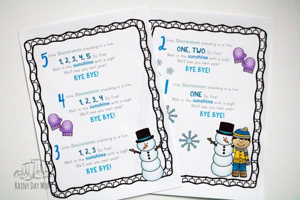 Selection of classic and fun nursery rhymes and songs for babies, toddlers and preschoolers on the theme of winter and snow. Ideal for circle time, language development and singing together. Includes full words for all the songs.