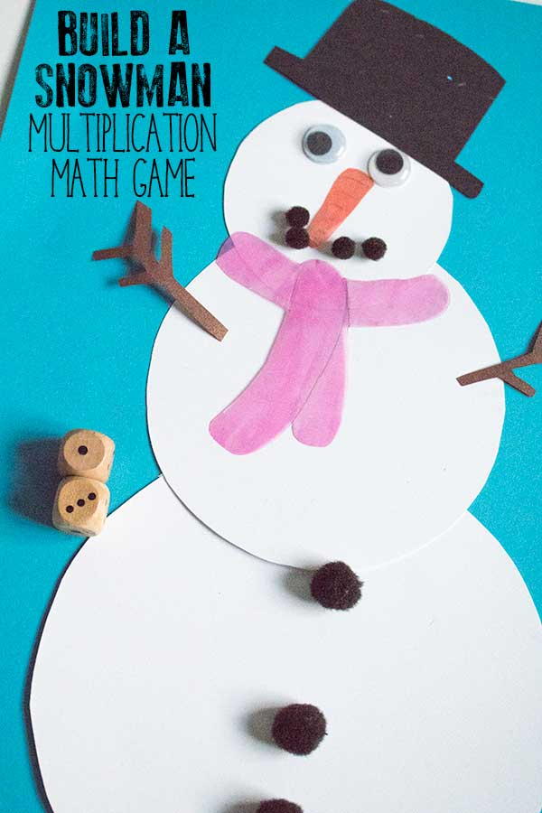 Build a Snowman Multiplication Math Game