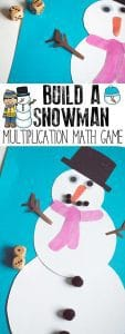 DIY Maths Game to build your own Snowman ideal for some winter times table practice. Play either as single players or against each other as you race to build the snowman first using multiplication and times table knowledge.