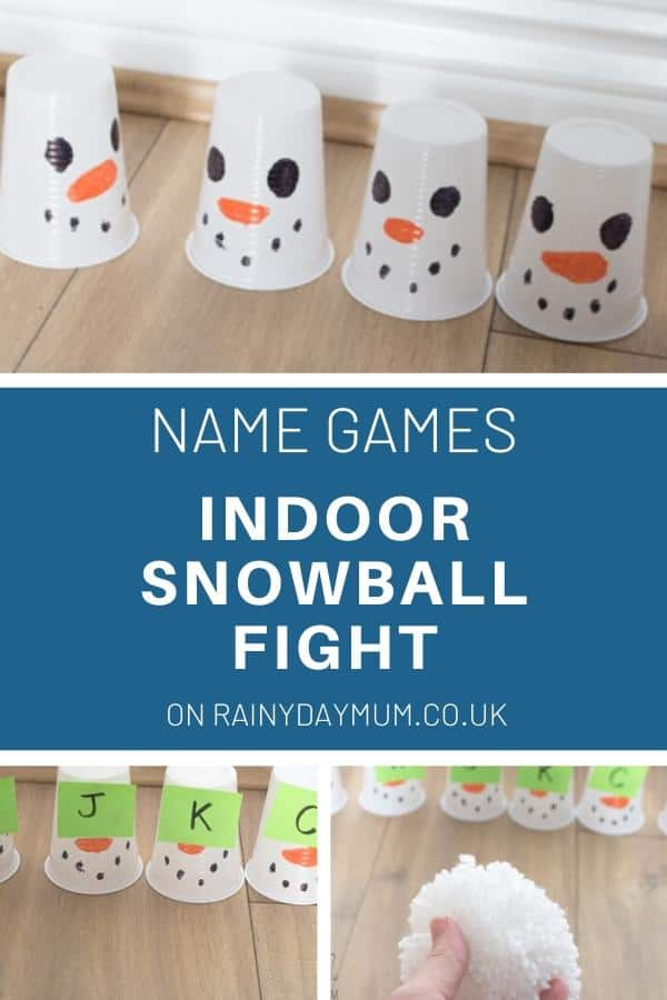Name Games - indoor snowball fight