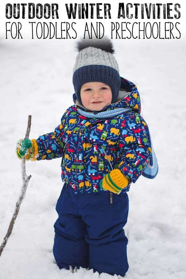 Outdoor Winter Activities for Toddlers and Preschoolers