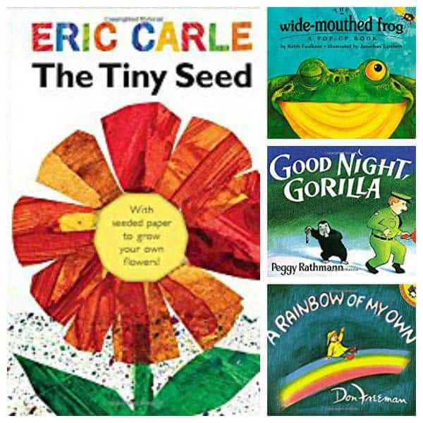 Featured Themes and Books for March, April and May as part of the FREE Virtual Book Club for Kids. Join along this spring with these book and activities for hands-on learning each week.