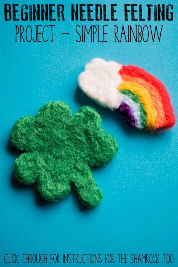 Beginner Needle Felted Rainbow Project