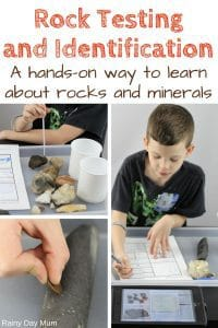 Full instructions on rock testing with kids including how to put together your own rock testing kit and a step-by-step guide to follow on how to test different rocks. Includes a FREE rock testing printable to download and use for home or classroom.
