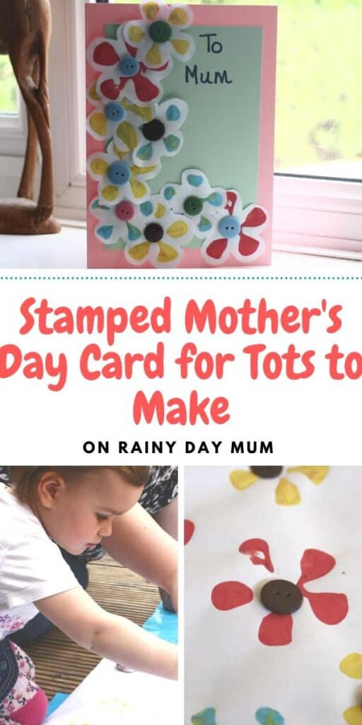 Stamped Mothers Day Card for Tots to Make