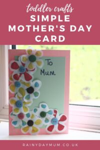 toddler crafts Simple Mother's Day Card