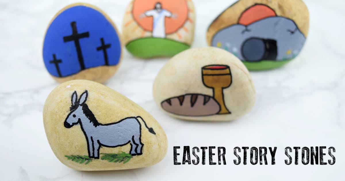 Easter Story Stones How To Make To Retell The Bible Story