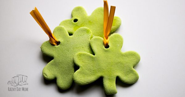 salt dough shamrocks