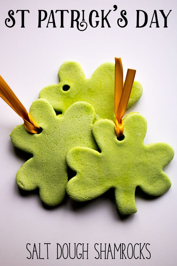 St Patrick's Day Green Salt Dough Shamrocks