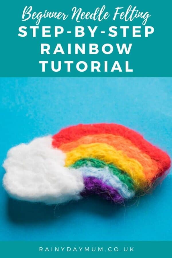 Beginner Needle Felting Step by Step Rainbow Tutorial