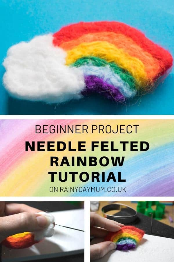 beginner project needle felted rainbow tutorial