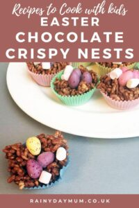 Easter recipe for kids classic chocolate crispy nests