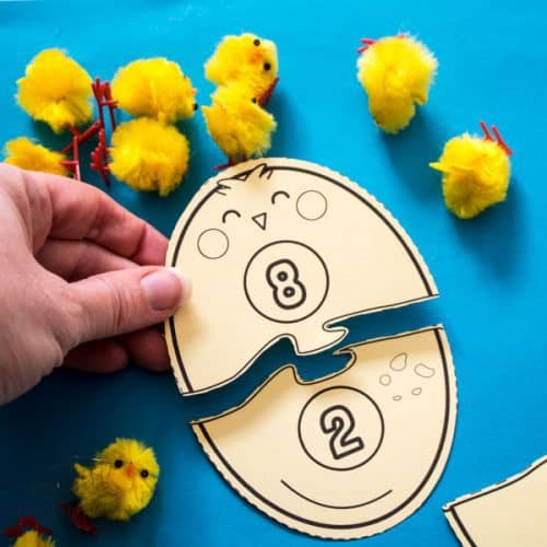 FREE Printable Egg and Chick Number Bond Puzzles