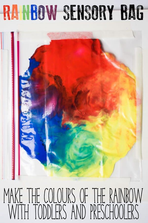 Rainbow Sensory Bag for Toddlers