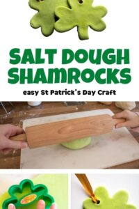 Salt Dough Shamrocks Easy St Patrick's Day Craft for Kids