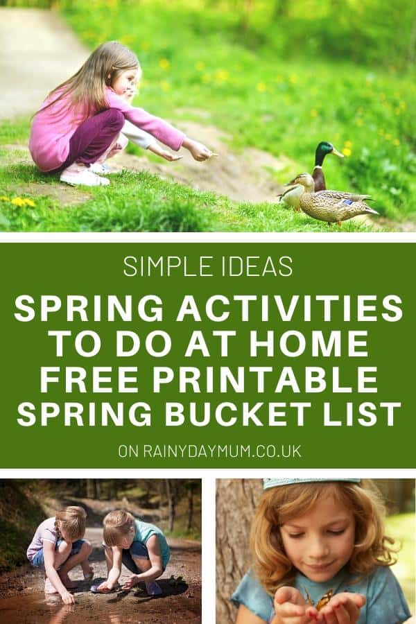 simple ideas for spring activities to do at home