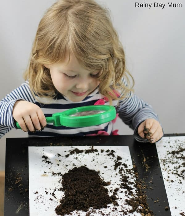 Explore different soil samples to discover the rocks, sediments and natural materials that make it up with this simple earth science experiment for kids ideal for Key Stage 2 Rock Science Units.