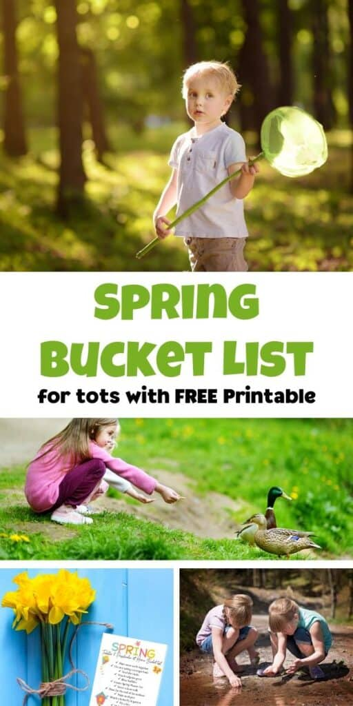 spring bucket list activities for toddlers and preschoolers