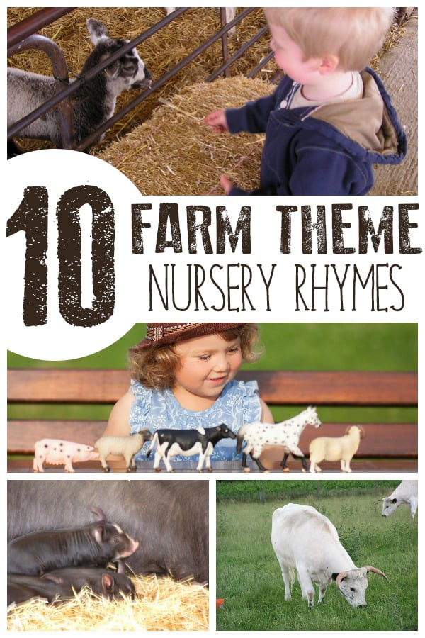 10 Classic Farm Animal Nursery Rhymes and Songs
