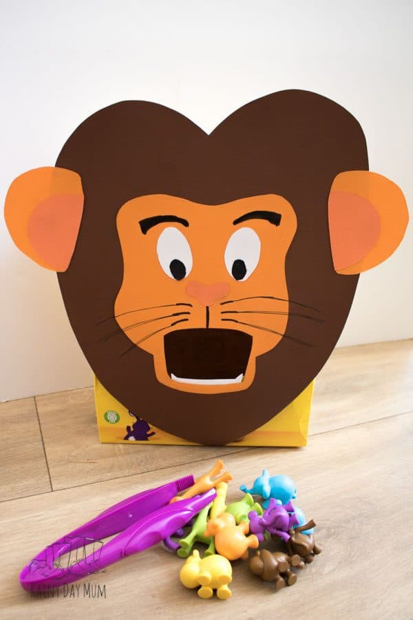 feed the lion counting game for toddlers and preschoolers