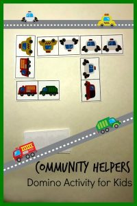 A fun game based on the book Trashy Town by Andrea Zimmerman that you can download, print and play with toddlers and preschoolers. Ideal for community helpers theme.