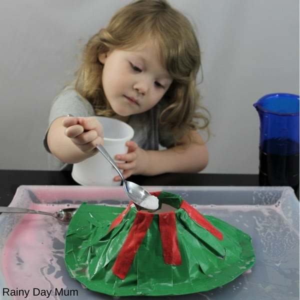 Explore how volcanoes differ with this fun hands-on volcano science experiment for kids. Use the classic baking soda experiment with variations to see if you can create an explosive volcano or a slow flowing lava field. Ideal for hands-on Earth Science learning.