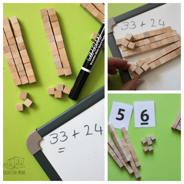 Create your own Base 10 Set for mathematics at a fraction of the cost of a bought set and made from natural materials too. Use the set of place value work, partitioning, addition and subtraction. An ideal DIY Math Manipulative for homeschooler, homework or in the classroom.