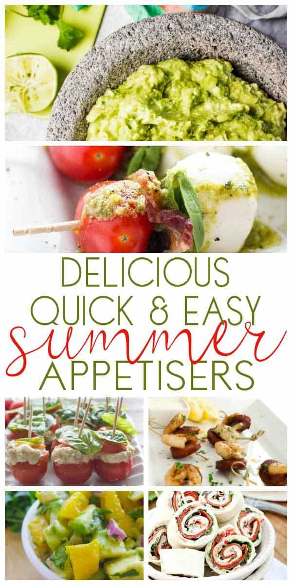 These delicious summer appertisers are perfect for when you want easy entertaining that takes no time at all. Pick your favourites with everyone of them taking under 30 minutes to prepare and cook. Ideal for when you want to spend time enjoying the sunshine and not in the kitchen.