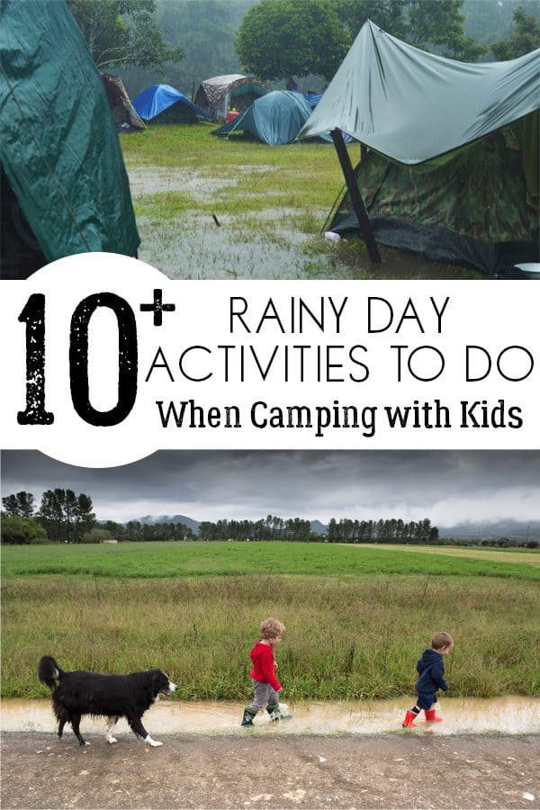 Rainy Day Activities for Camping with Kids
