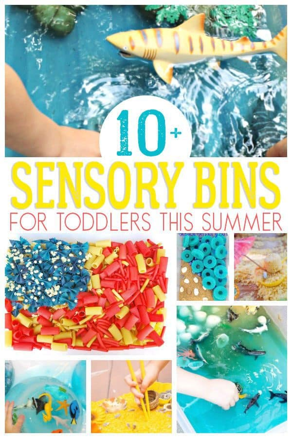 10+ Ideas for Summer Themed Sensory Bins Ideal for Toddlers to play with this season
