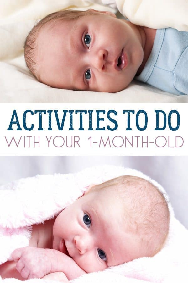Activities for your 1 month old