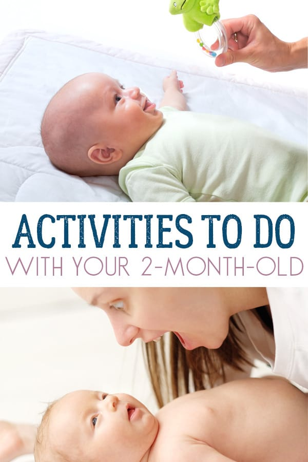 Simple activities that you can do at home with your 2-month-old baby to help them with developmental milestones and engage their senses.