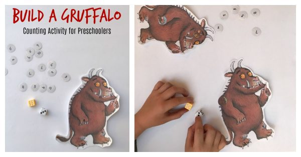 Inspired by the book The Gruffalo by Julia Donaldson play this 1 - 4 player counting and number recognition game as you build a Gruffalo. Perfect for preschoolers working on these number skills that love this fun children's picture book.