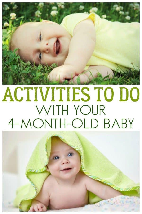 Activities to do with your 4-month-old baby