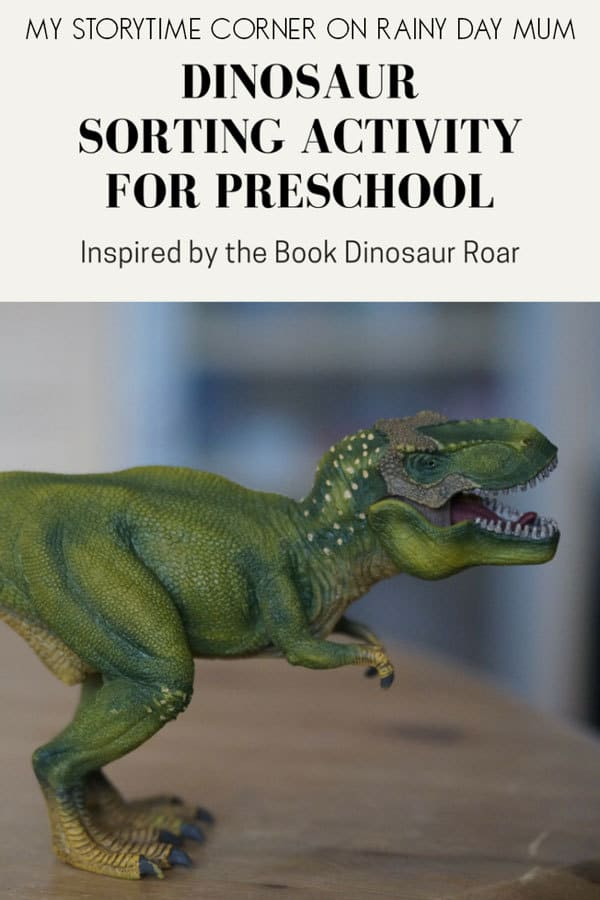 Toddler and Preschool Dinosaur Maths Activity