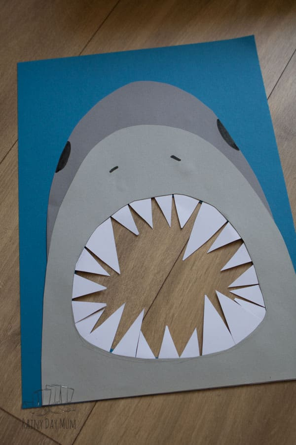 shark game for toddlers and preschoolers to work on fine motor skills and counting