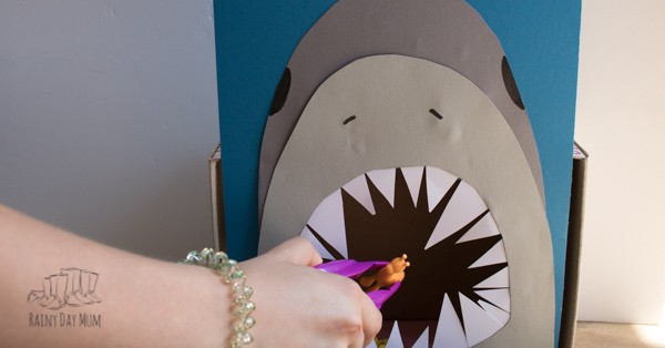 diy math game for toddlers and preschoolers for an under the sea theme