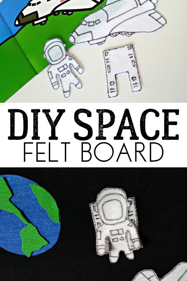 DIY Space Felt Board for Preschoolers