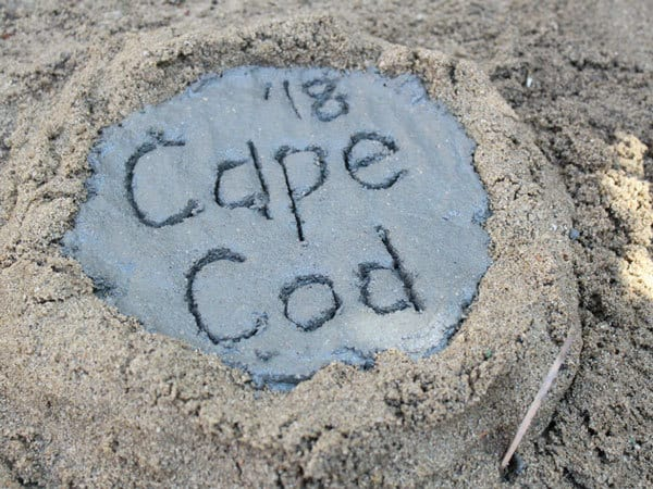 making annual summer memory stones with location and date on them
