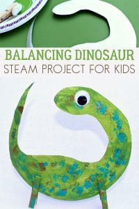 Fun STEAM dinosaur project for kids of all ages to make